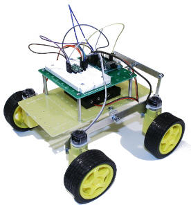 Sten-Bot 4 Wheeled WIFI Controlled Robot Kit
